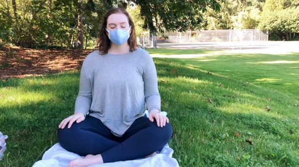 The Yogic Breathing Exercise You Can Do Anywhere (Yes, Even in a Mask)